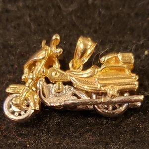Genuine 14kt two-tone 3D HD Motorcycle Charm